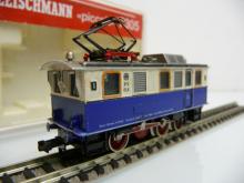 Fleischmann N 1:160 7305 Zahnradlok 3-achsig weiß/blau - Gebraucht in OVP