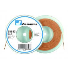 Kabel auf Abrollspule 25 m 0,14 mm² braun Viessmann 68653