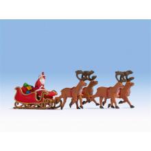 Weihnachtsmann mit Schlitten Noch H0 15924