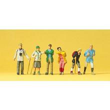 Figuren von Wanderern Preiser H0 10290