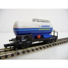 Arnold N 4355 Kesselwagen, 2-achsig, hellgrau-blau, ´SANDOZ´