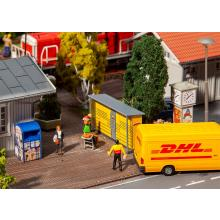 2 Packstationen DHL Faller H0 180281