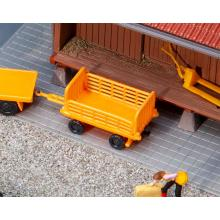 2 Bahnsteigwagen, orange Faller H0 180991