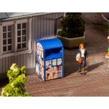 Altkleidercontainer, blau Faller H0 180992