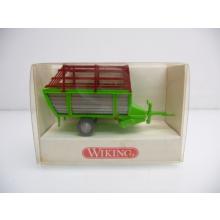 Wiking H0 381 00 13 Heuladewagen in grün mit rotem Gitter Neuwertig in OVP
