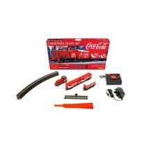 R1233P Starpackung Coca Cola Weihnachtszug-Set mit Gleisoval und Steuergerät - Hornby H0