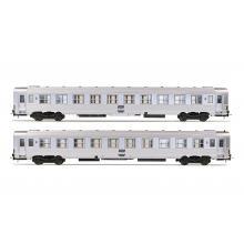 HJ4137 2-teiliges Personenwagen Set SNCF DEV Inox 2x B10j 2. Klasse Epoche 4 - Jouef H0