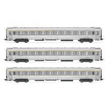 HJ4139 3-teiliges Personenwagen SNCF Set LA MOUETTE A9/A6/A9t Epoche IV - Jouef H0