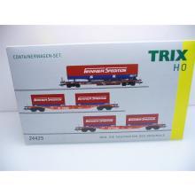 24425 Containerwagen Set Winner Sdgkms 707 und Sgns 691 der DB AG Ep. V Trix H0