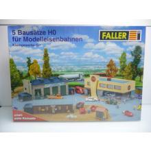5 Bausätze Set - Kleingewerbe Anlagen - Faller H0